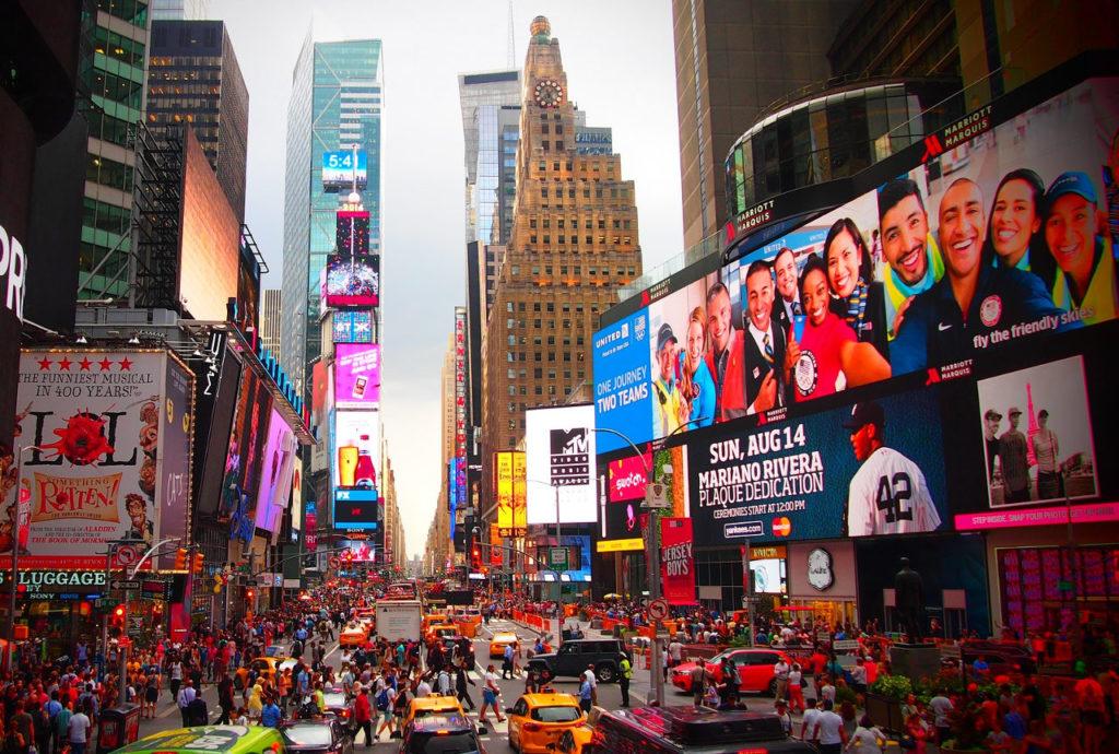 Imagen Times Square en Nueva York Estados Unidos