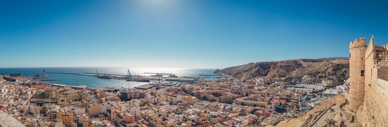 Imagen Panorámica de Almería desde La Alcazaba. Las ciudad más bonitas España