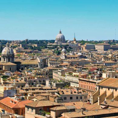 Imagen Panorámica de la ciudad de Roma en Italia. Cicerone Plus
